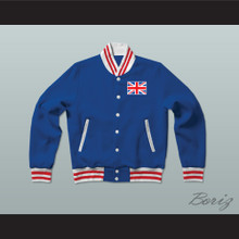 United Kingdom of Great Britain Varsity Letterman Jacket-Style Sweatshirt