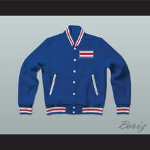 Costa Rica Varsity Letterman Jacket-Style Sweatshirt