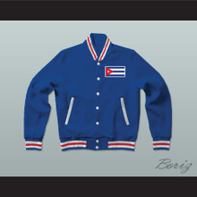 Cuba Varsity Letterman Jacket-Style Sweatshirt