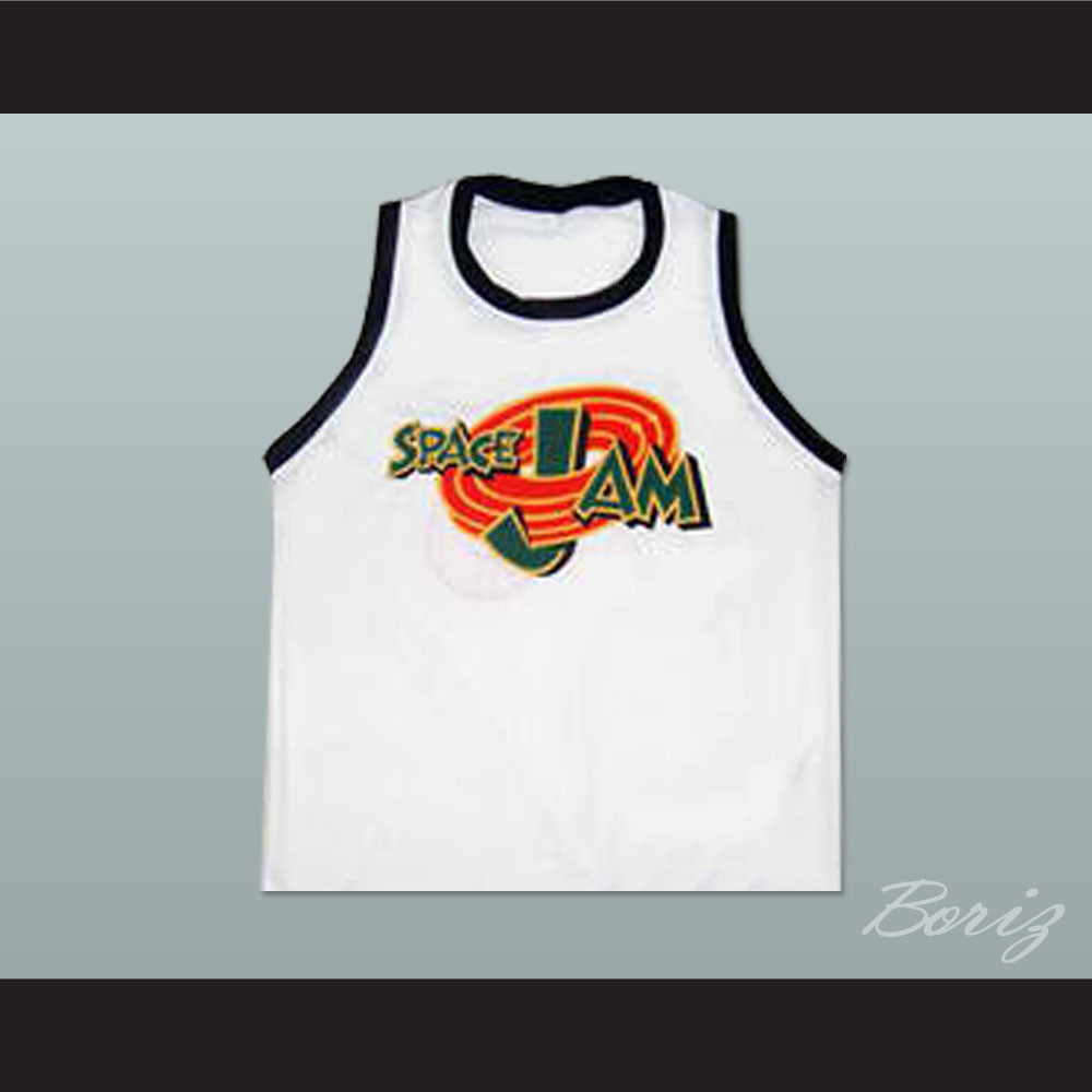 quality design 593a1 96bfd Michael Jordan Space Jam Tune Squad Basketball Jersey Stitch Sewn Custom  Name