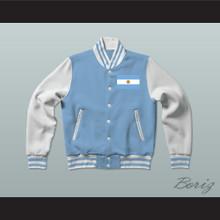 Argentina Varsity Letterman Jacket-Style Sweatshirt