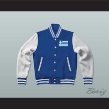 Greece Varsity Letterman Jacket-Style Sweatshirt