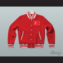 Turkey Varsity Letterman Jacket-Style Sweatshirt