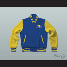 Bosnia and Herzegovina Varsity Letterman Jacket-Style Sweatshirt