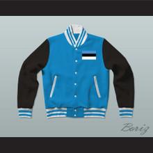 Estonia Varsity Letterman Jacket-Style Sweatshirt