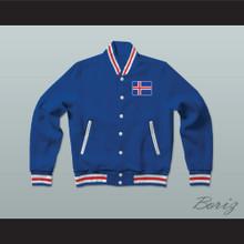 Iceland Varsity Letterman Jacket-Style Sweatshirt