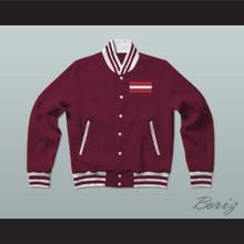 Latvia Varsity Letterman Jacket-Style Sweatshirt