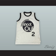 2Pac Tournament Shoot Out White Basketball Jersey