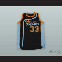 Jackie Moon 33 Flint Tropics Black Basketball Jersey