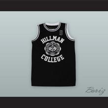 Dwayne Wayne 9 Hillman College Black Basketball Jersey
