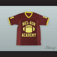 Will Smith 14 Bel-Air Academy Brown Football Jersey