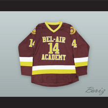 Will Smith 14 Bel-Air Academy Brown Hockey Jersey