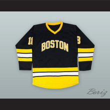 Happy Gilmore 18 Boston Alternate Black Hockey Jersey