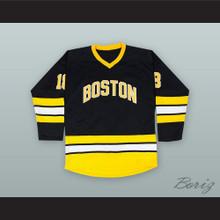 Happy Gilmore 18 Boston Alternate Black Hockey Jersey