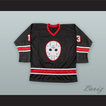 Jason Vorhees 13 Friday The 13th Black Hockey Jersey