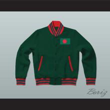 Bangladesh Varsity Letterman Jacket-Style Sweatshirt