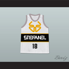 James Worthy Stefanel Trieste Italian Basketball Jersey Stitch Sewn New