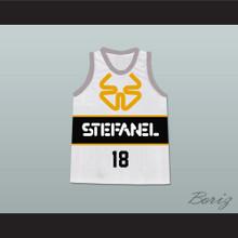 James Worthy Stefanel Trieste Italian Basketball Jersey Stitch Sewn New