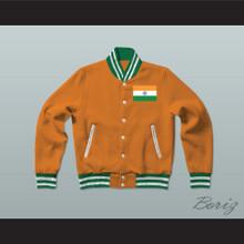 India Varsity Letterman Jacket-Style Sweatshirt