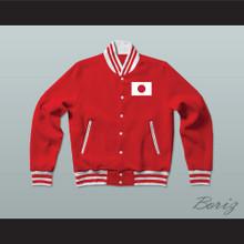 Japan Varsity Letterman Jacket-Style Sweatshirt