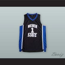 Damian Lillard 1 Weber State Black Basketball Jersey