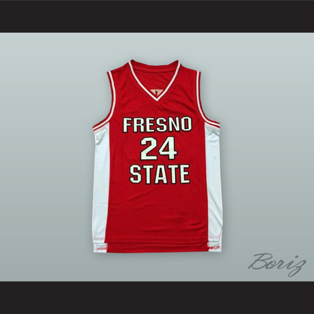 low priced 3628e 31bca Paul George 24 Fresno State Red Basketball Jersey