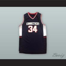 Ray Allen 34 UCONN Black Basketball Jersey