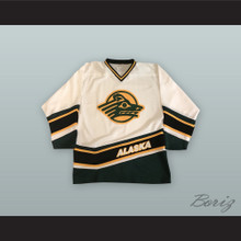 University Of Alaska Anchorage Sea Wolves White Hockey Jersey