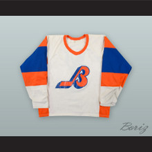 Alan Kerr 7 Seattle Breakers White Hockey Jersey