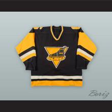 Bennett Wolf 6 Erie Blades Black Hockey Jersey