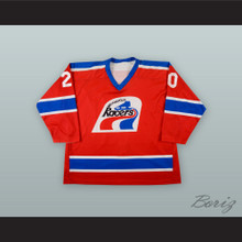 Frank Bialowas 20 Indianapolis Racers Red Hockey Jersey