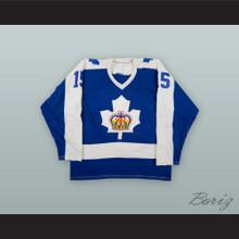 Greg Rolston 15 Toronto Marlboros Blue Hockey Jersey
