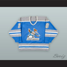 Neal Broten 10 Phoenix Roadrunners Light Blue Hockey Jersey