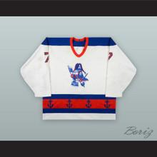 Randy Valischek 7 Milwaukee Admirals White Hockey Jersey