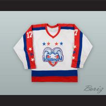 Rene Lemire 17 Billings Bighorns White Hockey Jersey