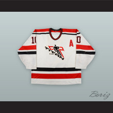 Sandy McCarthy 10 Laval Titans White Hockey Jersey