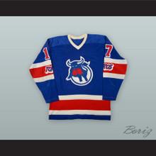 1973-74 WHA Tom Martin 17 Toronto Toros Blue Hockey Jersey