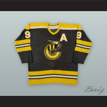 1975-76 WHA Rick Dudley 9 Cincinnati Stingers Black Hockey Jersey