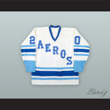 1977-78 WHA John Hughes 20 Houston Aeros White Hockey Jersey