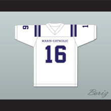 Jared Goff 16 Marin Catholic High School Wildcats White Football Jersey