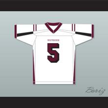 Patrick Mahomes 5 Whitehouse High School White Football Jersey
