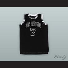 Coffee Black 7 San Antonio Basketball Jersey