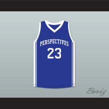 Anthony Davis 23 Perspectives Charter School Blue Basketball Jersey 2