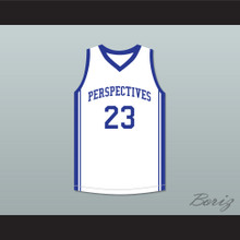Anthony Davis 23 Perspectives Charter School White Basketball Jersey