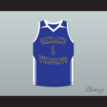 Damian Lillard 1 Oakland High School Wildcats Blue Basketball Jersey