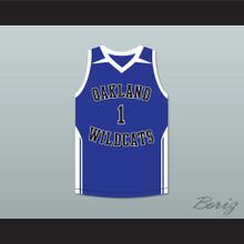 Damian Lillard 1 Oakland High School Wildcats Blue Basketball Jersey 2