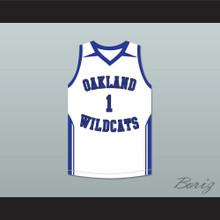 Damian Lillard 1 Oakland High School Wildcats White Basketball Jersey 2