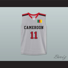 Joel Embiid 11 Cameroon Gray Basketball Jersey
