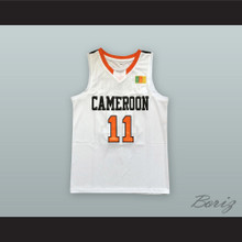 Joel Embiid 11 Cameroon White Basketball Jersey