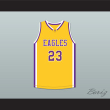 Joel Embiid 23 Montverde Academy Eagles Yellow Basketball Jersey